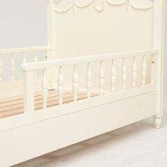 セミシングルベッド柵付ショートタイプクラシック調ヴィオレッタロマンチック幅88cm