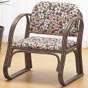 ラタンチェア ミドルタイプ 座椅子 クッション付 籐家具 座...