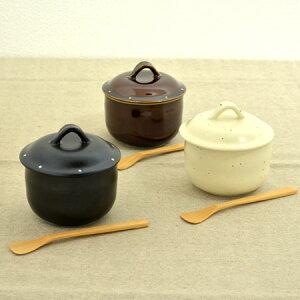 茶碗蒸し碗 蒸し茶碗 調味つぼ ころん スプーン付 食器 食洗機対応 ( 茶碗蒸し器 和食器 調味料入れ 蒸し碗 ちゃわんむし レンジ対応 ) 【39ショップ】