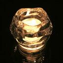 キャンドルホルダー ロックアイス ガラス製 ( キャンドルスタンド キャンドルグラス ろうそく立て クリスマスキャンドル クリスマス雑貨 ) 【39ショップ】