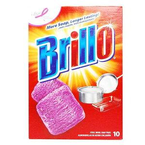 【ポイント最大10倍】アメリカで愛され続けるブリロの石鹸付きスチールたわし ソープパッド タ...