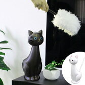 ねこのスタンドモップ ねこのしっぽ ( ハンディモップ ケース付きモップ 掃除用具 くろねこ 黒猫 黒ネコ ) 【5000円以上送料無料】