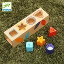 型はめ 木のおもちゃ 木製 ボワット ベーシック ( ジェコ DJECO おもちゃ 玩具 型はめパズル 4ピース 形あわせ はめこみ 簡単 幼児 1歳 12ヶ月 モンテッソーリ )【39ショップ】