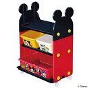 おもちゃ 収納ラック 3段 ミッキーマウス トイステーション ( 送料無料 収納 棚 収納ボックス おもちゃ箱 キャスター付き おもちゃ 絵本 ラック お片付け 子供部屋 ディズニー Disney ミッキー )【39ショップ】