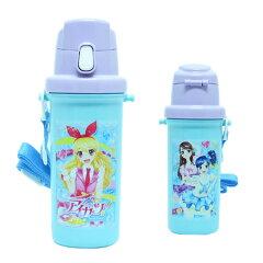 「アイドルカツドウ」略してアイカツ!のかわいい直飲み水筒 キャラクター 軽量 アイカツ!子供...
