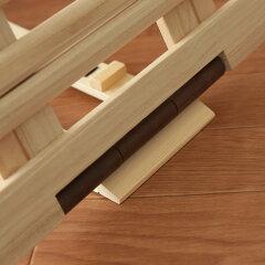 すのこベッド折りたたみすのこマット桐製軽量タイプスタンド式セミダブル