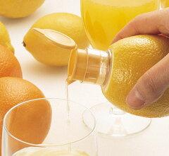 サラダやフライにレモンをサッとひと絞りレモン絞り器レモンしぼり器 レモンしぼれます( レモ...