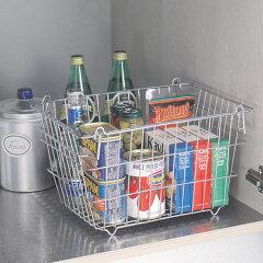 【ポイント最大13倍】キッチンの小物・食材などをすっきり整理 バスケット 収納棚 シンク下 シ...