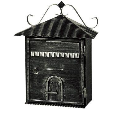  特価  郵便ポスト アンティーク BOX LB-316B ブラック ( ポスト 郵便受け メールボックス 壁付け 壁掛け 新聞入れ )