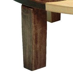座卓折れ脚ローテーブル木製アース丸直径75cm