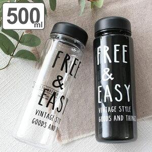 水筒 プラスチック NATIVE HEART クリアボトル FREE&EASY 500ml ( プラボトル マイボトル プラスチック製 ボトル 軽い 女子 大人 ダイレクトボトル 軽量 シンプル 超軽量 おしゃれ ウォーターボトル ロゴ入り 広口 スポーツボトル )【39ショップ】