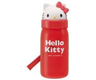 子供用水筒 ハローキティ ストロー付 350ml プラスチック製 (KITTY キティ キャラクター すいとう ) 【5000円以上送料無料】