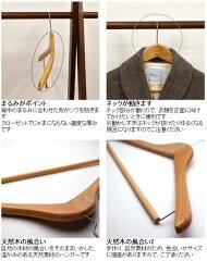天然木製ハンガースロープタイプ5本組