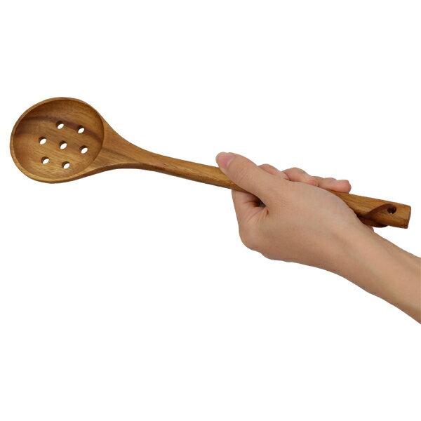 ドレイナースプーン BONO BONO ボーノボーノ 木製 キッチンツール ( 調理器具 キッチン用品 穴明き 穴明きスプーン 穴明きお玉 水切り 料理スプーン ) 【39ショップ】