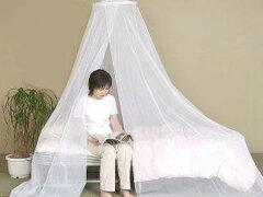 手軽に洗えてしわになりにくい蚊帳洗える 天吊り蚊帳(かや) ダブルベット用 蚊帳のみ 送料...