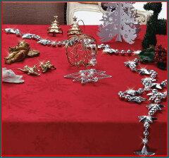 クリスマスのテーブルコーディネートにクリスマス テーブルクロス クリスタル140×230cm撥水...