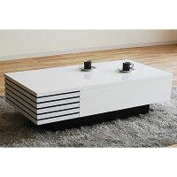 リビングテーブルテーブルLT−469<モリタインテリア>スノーホワイト