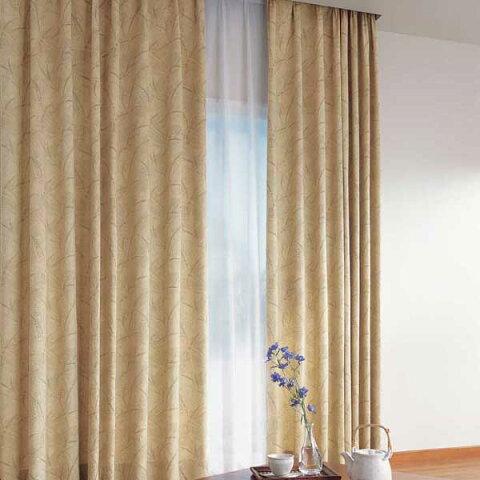 カーテン 激安 東リ オーダーカーテン&シェード elure 和風 KSA60177スタンダード縫製 約2倍ヒダ 3ツ山仕様 (税別価格) タッセル含む
