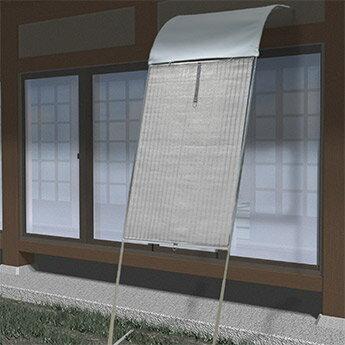 【ポイント最大17倍】国産パイプ使用でがっちり固定 雨風に強い アーチ型立て掛けサンシェード テラスon 半間用