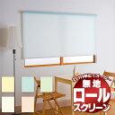 お買得!既製品ロールスクリーン ロールカーテン 無地タイプ アルティス (80×220) 1