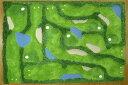 完全国内生産 ラグ マット カーペット 大人気 おしゃれでアート! ゴルフ[大](140×200 )