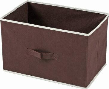 【まとめ買い対象商品_z】不織布製インナーボックス 横型 ブラウン