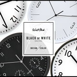 【送料無料_a】掛け時計 壁掛け時計 おしゃれ モノトーン 白黒 インテリア時計 ホーン ベゼル インデックス
