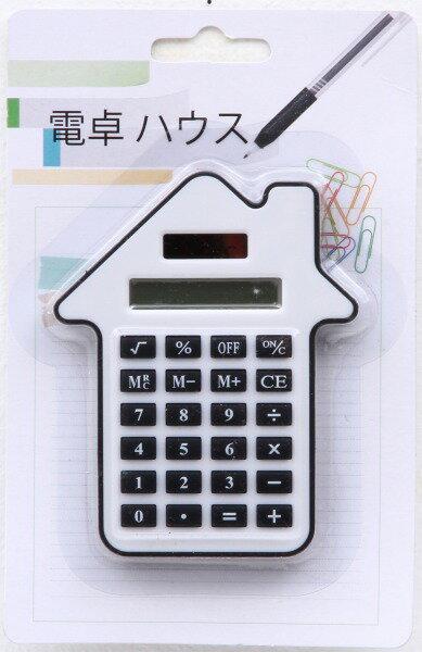 【まとめ買い対象商品_z】電卓 ハウス ホワイト