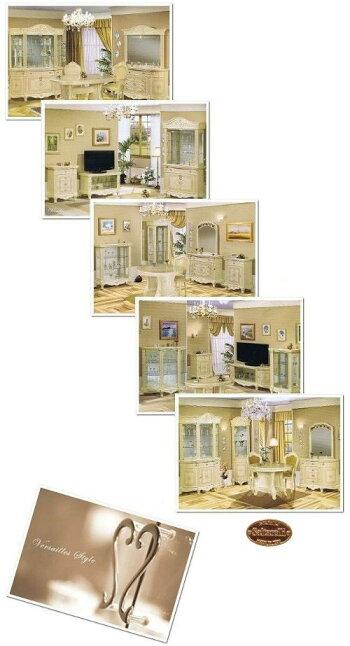 サルタレッリヴェルサイユサイドボード幅170【送料無料】【開梱設置】B3-V7003おしゃれ木製完成品タンスb3v7003家具輸入家具イタリア家具姫系リビングボードボード白家具