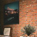 【送料無料】選べるサイズ B1サイズ(約73×103cm) ポスター インテリア おしゃれ ファッションポスター 大きい ダイナー アメリカン USA 風景 オール