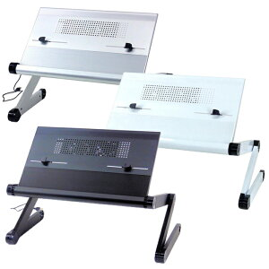 パソコンテーブル 冷却ファン付き フレキシブル 折りたたみ パソコンデスク タブレット ノートパソコン ポータブル ラップトップテーブル