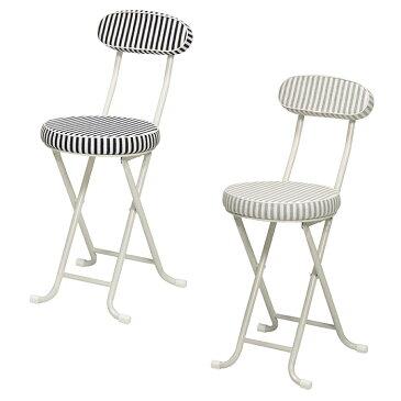 折りたたみチェア カウンターチェア 背もたれ付き 折りたたみ パイプ椅子