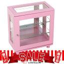 【値下げ!ピンク限定】 コレクションケース ワイド ディスプレイ おしゃれ ガラスケース ショーケース