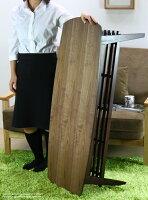 センターテーブルウォールナット北欧脚天板テーブルおしゃれ木製北欧収納高さ50cm木目