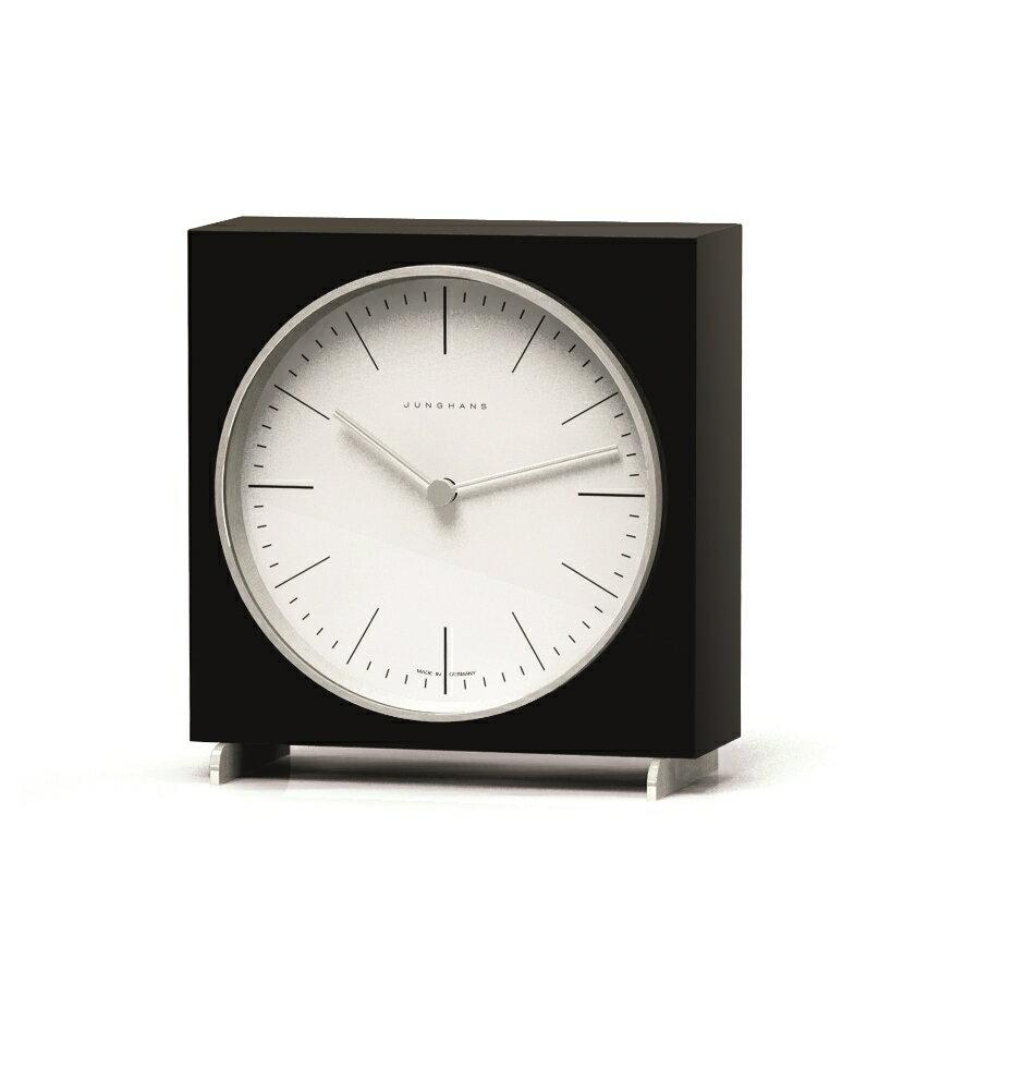 【送料無料!】Junghans ユンハンスMax Bill マックスビル / Tischuhr schwarz 363Table Clock Black置き時計 / テーブルクロック ブラック /  MBL-03-0006ブラックピアノラッカー仕上げ:AKI interior space