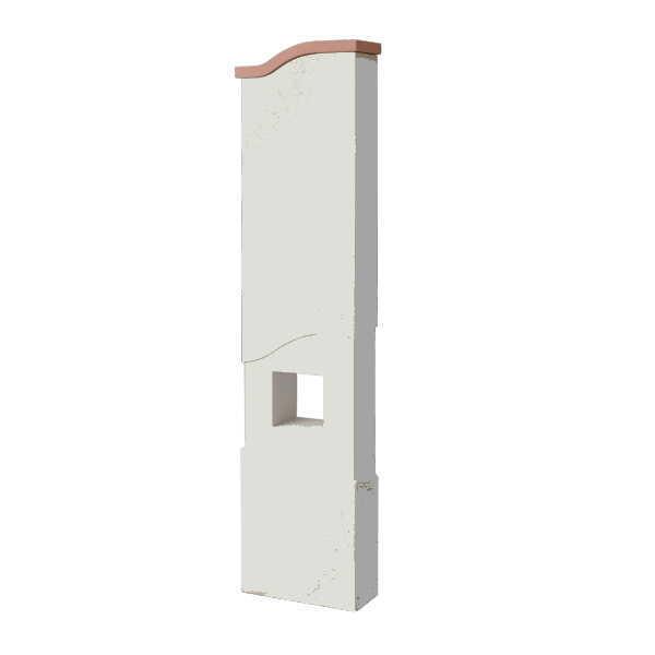 トーシン アン エントレ350ウェーブ ホワイト GW-UN-ENT350W-WH 門柱、照明、表札、ポストセット