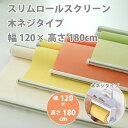 スリムロールスクリーン 木ネジタイプ 幅120 × 高さ180cm 規格品 全4色 どれか1つ 【代引き不可】 【メーカー直送】