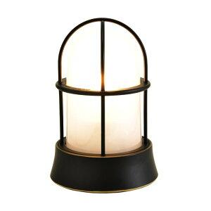 真鍮製ガーデンライトBH1000BKFRLE(真鍮ブラック仕上/クリアーガラス/LED仕様)GI1-700207