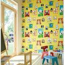 イーヅカで買える「シンコール 壁紙 ビニルクロス コロポックル BB8874 93cm巾 1m長 糊なし」の画像です。価格は348円になります。