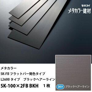セキスイメタカラーSK-FBフラットバー発色タイプSK-100×2FBBKHL2600タイプブラックヘアーライン1枚