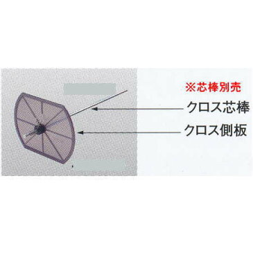 ヤヨイ化学 糊付機用 クロス側板A 蝶ネジ付 φ22用 400-261