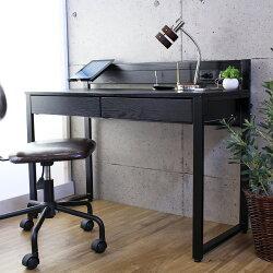 コンセント&USBポート付きオフィスデスク、幅110cm