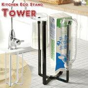 キッチンエコスタンド・タワー ボックス ホルダー スタンド コーナー