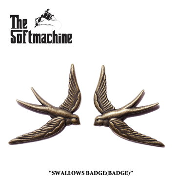 SOFTMACHINE(ソフトマシーン)SWALLOWS BADGE(BADGE SET)【2017AUTUMN/WINTER先行予約】【キャンセル不可】【SOFTMACHINE(ソフトマシーン) バッジ】
