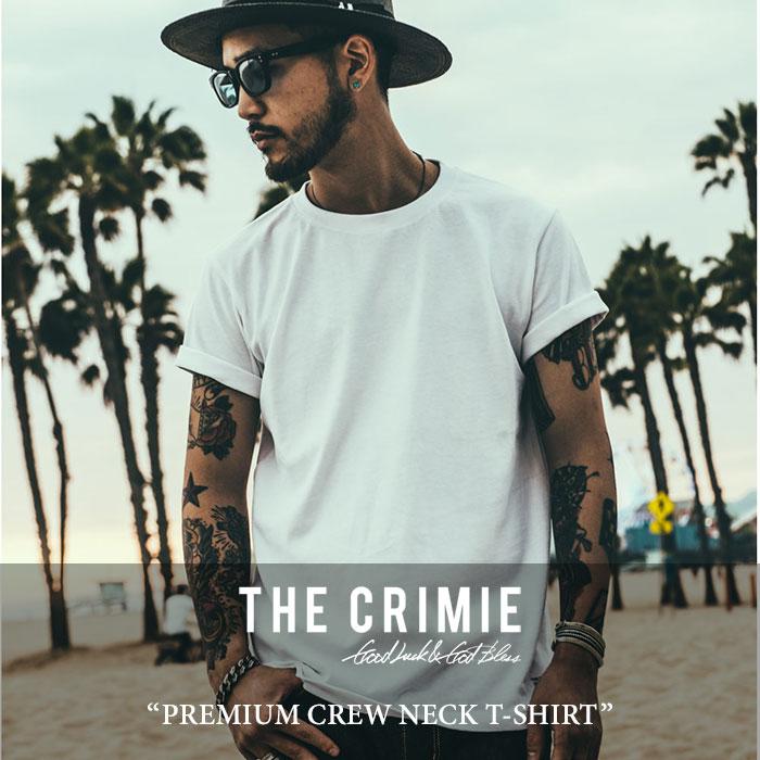 CRIMIE(クライミー)PREMIUM CREW NECK T-SHIRTS【2017SPRING/SUMMER新作】【即発送可能】【C1G1-CXTE-CR01】【CRIMIE Tシャツ】