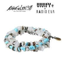 2013 VIVIFY x RADIO EVAエヴァンゲリオン公式アクセサリー[VIVIFY x RADIO EVA] Pebble &Metal Chip's Beads Cord/綾波レイ【職人の完全手作業による逸品】