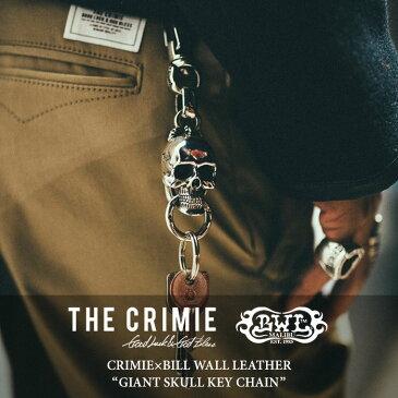 CRIMIE(クライミー)GIANT SKULL KEY CHAIN【2018 SUMMER先行予約】【送料無料】【キャンセル不可】【C1H3-CRBW-KC01C】【CRIMIE x BILL WALL LEATHER USA】