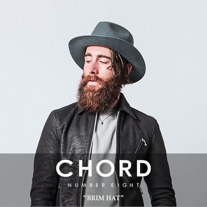 CHORD NUMBER EIGHT(コードナンバーエイト)BRIM HAT【2018SPRING/SUMMER新作】【即...