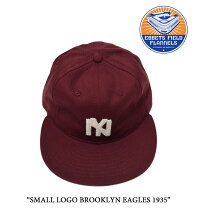 EBBETS FIELD FLANNELS(エベッツフィールドフランネルズ)SMALL LOGO BROOKLYN EAGLES 1935【EBBETS FIELD FLANNELS コットンキャップ】