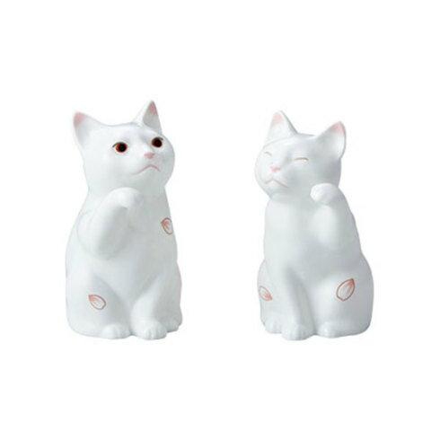 Noritake/ノリタケ 置物 招き猫(小) ペアセット(桜)